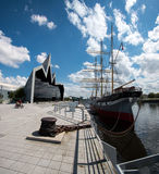 The Riverside Museum, Glasgow, Scotland, UK. The Sailing Ship Glenlee, permanently moored at the Glasgow Riverside Museum Royalty Free Stock Images