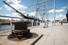 The Riverside Museum, Glasgow, Scotland, UK. The Sailing Ship Glenlee, permanently moored at the Glasgow Riverside Museum Royalty Free Stock Image