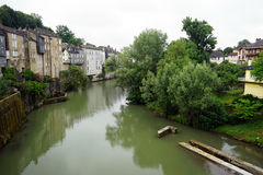 Riverside in Oloron-Sainte-Marie Stock Image