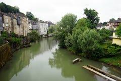 Riverside in Oloron-Sainte-Marie Stock Image