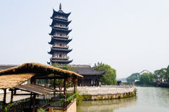 Riverside pagoda Royalty Free Stock Photo