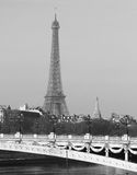 Riverside of Paris with Eiffel tower, France Royalty Free Stock Photography