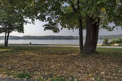 Riverside park in Ruse town along river Danube Royalty Free Stock Photography