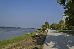 Riverside park in Ruse town along river Danube Royalty Free Stock Image