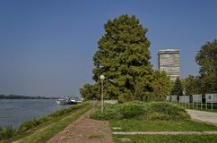 Riverside park in Ruse town along river Danube Royalty Free Stock Photo