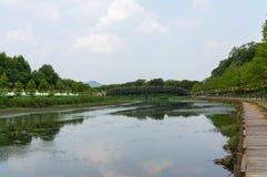 Riverside park Stock Photography