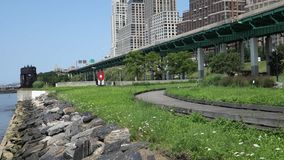 Riverside Park South in New York City stock video