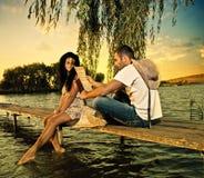 Riverside poem Royalty Free Stock Image
