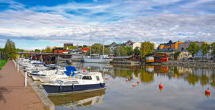 Riverside Porvoo Porvoonjoki River Stock Photo