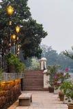 Riverside promenade along Sungai Melaka, Malacca,  Malaysia Stock Photos