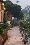 Riverside promenade along Sungai Melaka, Malacca,  Malaysia Royalty Free Stock Photo