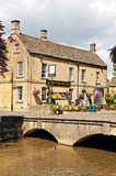 Riverside pub, Bourton on the Water. Royalty Free Stock Photo