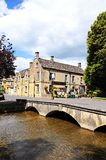 Riverside pub, Bourton on the Water. Royalty Free Stock Image