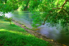Riverside of refreshment on holiday Royalty Free Stock Photo