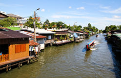 Riverside residential in Thailand Stock Images