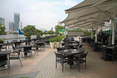 Riverside restaurant or pub in Bangkok Royalty Free Stock Photography