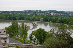 The riverside of Rhone Royalty Free Stock Photography