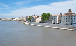 The riverside of Rhone Stock Images
