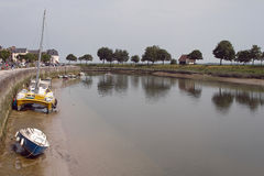 The riverside in Saint-Valery-sur-Somme (France) Stock Photo