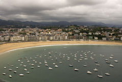 Riverside of San Sebastian-Donostia Royalty Free Stock Photography