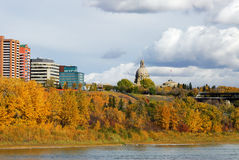 Riverside scene in edmonton Stock Images