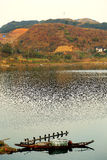 The riverside scene of Hongjiang ancient commerical city Stock Photos
