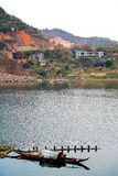 The riverside scene of Hongjiang ancient commerical city Royalty Free Stock Image