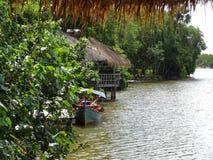 Riverside scenery in Cambodia Stock Image