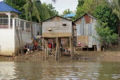 Riverside scenery in Cambodia Stock Photos