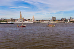 Riverside Schelde seen during The Tall Ships Race 2016 event Royalty Free Stock Photo