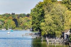 Riverside See Starnberg Stockbild