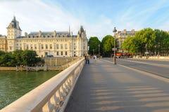 Riverside of seine river in Paris Stock Images