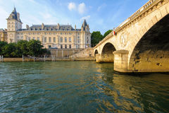 Riverside of seine river in Paris stock photography