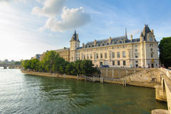 Riverside of seine river in Paris Royalty Free Stock Images