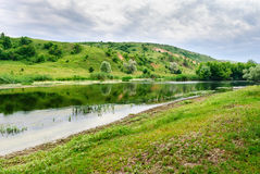 Riverside of the Seversky Donets River Royalty Free Stock Photos