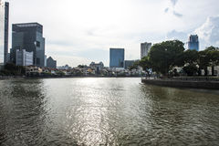 Riverside, Singapore. Singapore, the Republic of Singapore, and often referred to as the Lion City, the Garden City, and the Red Dot, is a global city in Royalty Free Stock Image