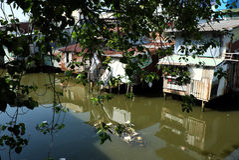 Polluted Slum Area Near Sacred Bagmati River In Kathmandu