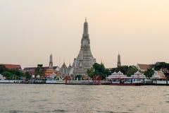 Riverside Temple of Bangkok, Thailand stock photo
