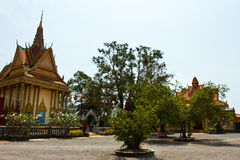 Riverside temple of Kampot, Cambodia Stock Photo