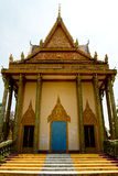 A riverside temple of Kampot, Cambodia Stock Photo