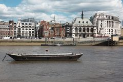 Riverside of Thames in London Royalty Free Stock Image