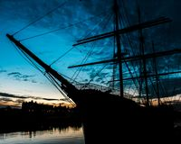 The Riverside transport museum tall ship Glasgow royalty free stock photography