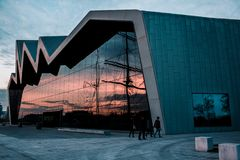 The Riverside transport museum and tall ship Glasgow stock photography