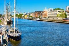 Riverside. Turku, Finland Stock Photography