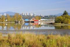 Riverside view in autumn Stock Photos