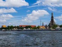Riverside view. At Chaophaya river Bangkok, Thailand Royalty Free Stock Image