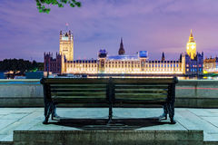 Riverside view of Houses of Parliament Stock Photography