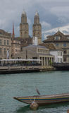 Riverside view, Old City, Zurich, Switzerland Royalty Free Stock Image