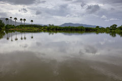Riverside view in south cambodia Royalty Free Stock Photography