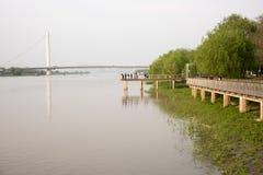 Riverside Viewing platform Royalty Free Stock Photos